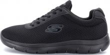 SKECHERS MESH LACE UP (12606-BBK)