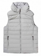 EMERSON HOODED FAKE DOWN QUILTED VEST JACKET (192.EM10.120 RPS ICE)