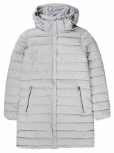 EMERSON DETACHABLE HOOD FAKE DOWN QUILTED LONG JACKET (192.EW10.82 RPS ICE)