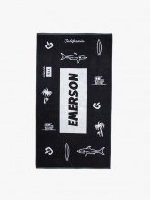 EMERSON BEACH TOWELL (201.EU04.72 PR192 BLACK)