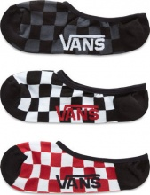 Vans Classic Super No Show 3Pack Red-White Check (VN000XS9RLM)