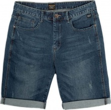 EMERSON STRECH DENIM SHORT PANTS (201.EM45.97 DARK BLUE)