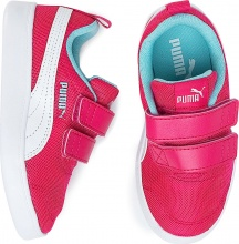 PUMA Courtflex V2 Mesh Kids Trainers (371758-02)