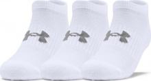Under Armour Training Cotton No Show Socks (1347094-100)