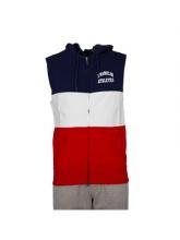 Franklin Marshall  fz ss hoodie navy (FLMF120ANAW7N)