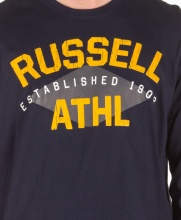 RUSSELL ATHLETIC CREWNECK TEE LS NAVY  (A9-039-2-190)