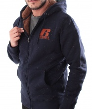 RUSSELL ATHLETIC  SHERPA ZIP HOODY NAVY (A9-064-2-190)