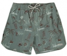 EMERSON PRINT VOLLEY SHORTS (191.EM505.15 PR147 GREEN)