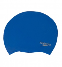 SPEEDO PLAIN MOULDED SILICON CAP (70984-2610 BLUE)
