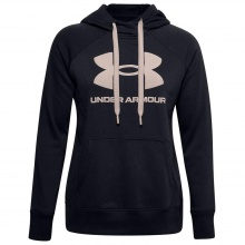 UNDER ARMOUR RIVAL FL LOGO HOODIE (1356318-003)